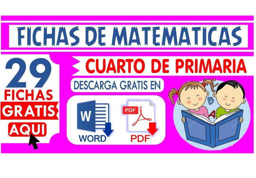 matematicas para cuarto de Primaria