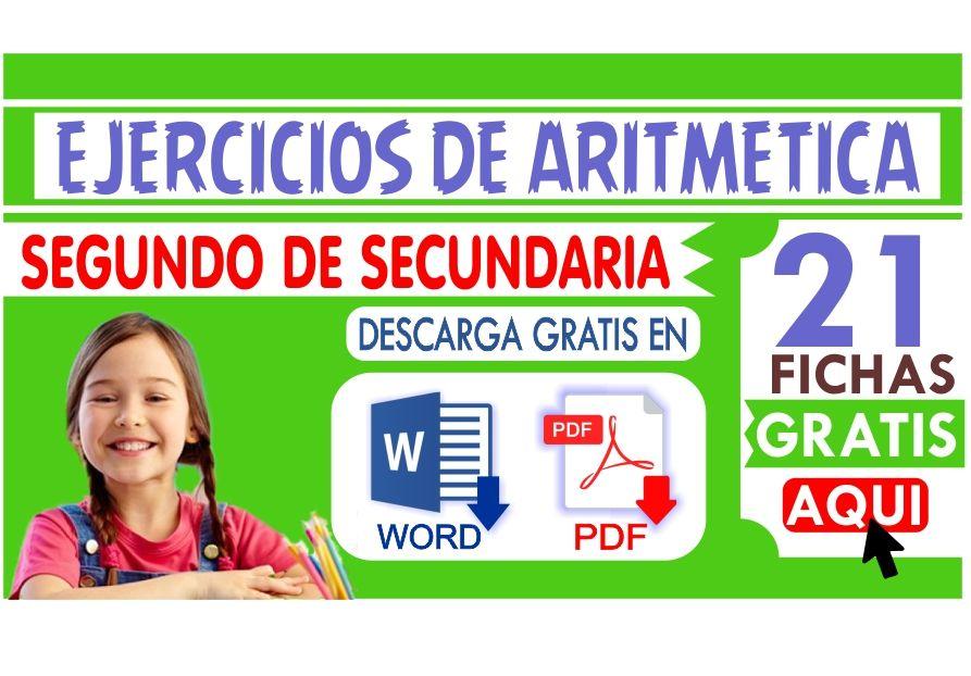 Ejercicios de Aritmetica para Segundo de Secundaria