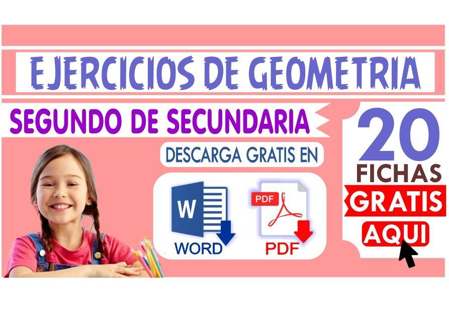 Ejercicios de Geometria para Segundo de Secundaria