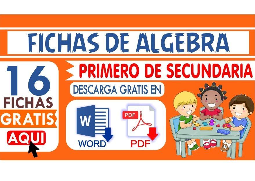 Ejercicios de algebra para primer grado de secundaria