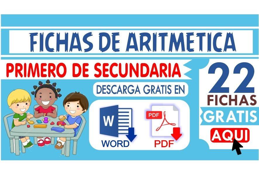 Fichas de Aritmetica para Primer de Secundaria
