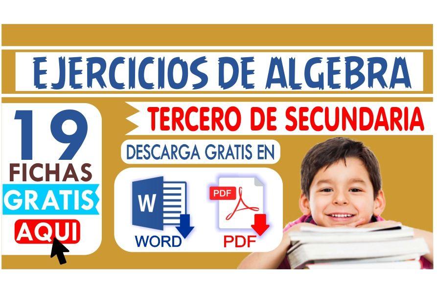 Fichas de Algebra para Tercero de Secundaria