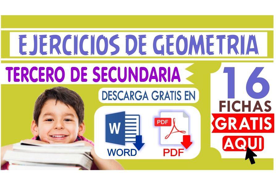 Fichas de Geometria para Tercero de Secundaria