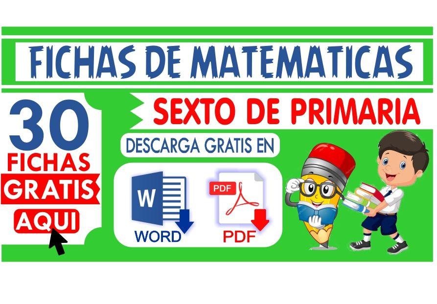 matematicas para sexto de Primaria