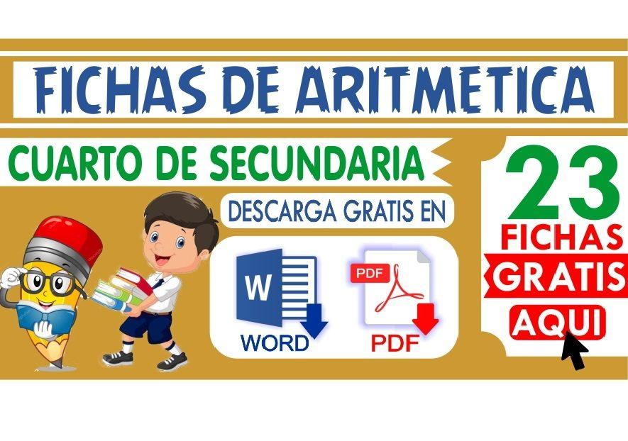 Ejercicios de Aritmetica para Cuarto de Secundaria