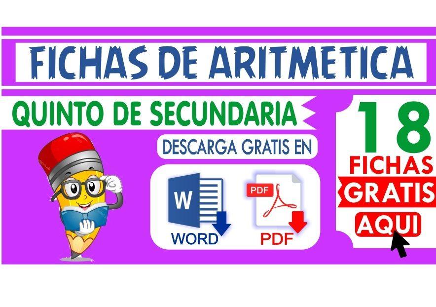 Ejercicios de Aritmetica para Quinto de Secundaria